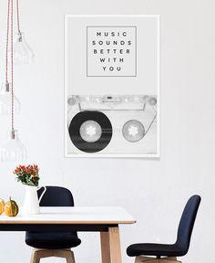 Music Sounds Better With You en Affiche premium | JUNIQE