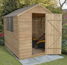 Apex Overlap Pressure Treated 8x6 Wooden Garden Shed