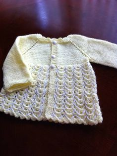hand knitting baby cardigan / Baby sweater size 3 months by NARELO, $30.00