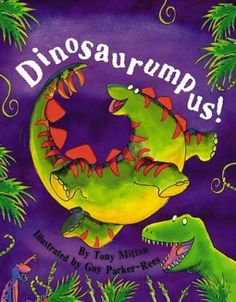rhyme, rhythm and repetition. The author makes dancing dinosaurs into a fantastic musical  story.You may want to edit it for length or read it in parts