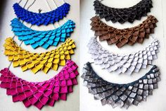 Origami Collection:  Choose Your Color Leather Origami Necklace