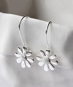 Love this Sterling Silver Contemporary Daisy Drop Earrings by Martha Jackson on #zulily! #zulilyfinds