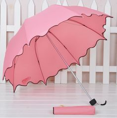Pink Scallop Trim Umbrella~ By Shawna♡