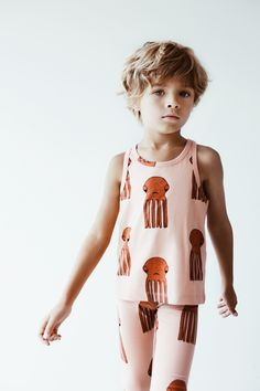 Sleeveless tank top with octopus all over print by Hugo Loves Tiki. We love the cute print on this vest top by Hugo Loves Tiki. Toddler Dress, Baby & Toddler Clothing, Toddler Fashion, Toddler Outfits, Boy Fashion, Baby Dress, Boy Outfits, Cute 13 Year Old Boys, Cute Boys