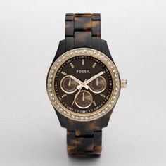 Fossil Tortoiseshell Watch- WANT for my birthday!!! Hint hint best friends- tell the boy! :)