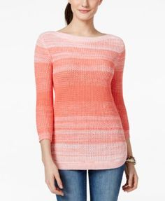Tommy Hilfiger Ombre Striped Tunic Sweater - Sweaters - Women - Macy's