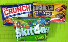 DIY Candy Bag Tutorial! I think this would make an awesome pen or pencil pouch!