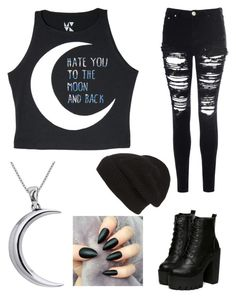 """""""Hate you"""" by alyssajeanf ❤ liked on Polyvore featuring Glamorous, Carolina Glamour Collection and Phase 3"""