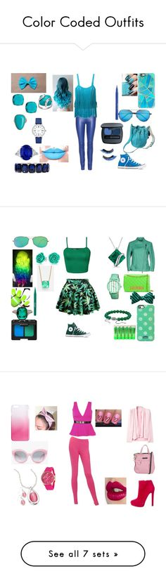 """""""Color Coded Outfits"""" by lover-r5 on Polyvore featuring art"""