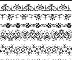 Floral ornate borders vector