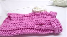 Contrast Trim Legs Starting with belly side facing you, connect yarn with sc, then sc in each stitch around, join, ch 1 This is my own hand crocheted dog . Crochet Dog Sweater, Dog Sweater Pattern, Hand Crochet, Flamingo, Legs, Stitch, Sweaters, Pink, Fashion