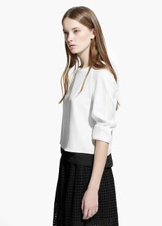 Black and White | Bicolor blouse by Mango