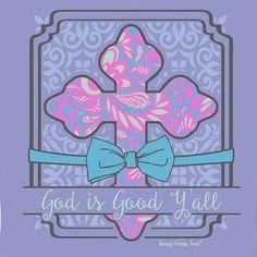 SassyFrass Christian T-Shirt | God is Good Y'all | Free U.S. Shipping