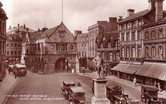 Shropshire, Shrewsbury, Old Market Square and Clive Statue