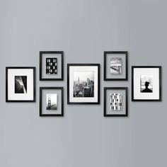 Frame Wall Collage, Wall Collage Decor, Photo Wall Decor, Frames On Wall, Wall Collage Picture Frames, Picture Groupings, Hallway Wall Decor, Family Pictures On Wall, Family Wall