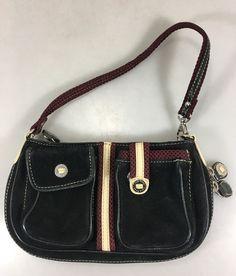 Cole Haan Black Burgundy Suede Expandable Small Handbag Purse Wristlet   ColeHaan  Wristlet Burgundy, 94c0c1e930
