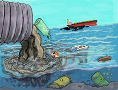 Water pollution means what? Here we can define it like this, water pollution is the contamination of water bodies, sometimes Ocean Pollution Facts, Water Pollution Poster, Effects Of Water Pollution, Plastic Pollution, Air Pollution, Art Environnemental, Environmental Pollution, Environmental Health, Water Drawing