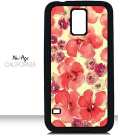 Stylish Floral Pattern Samsung Galaxy S5 Case by NuAgeProducts, $13.23