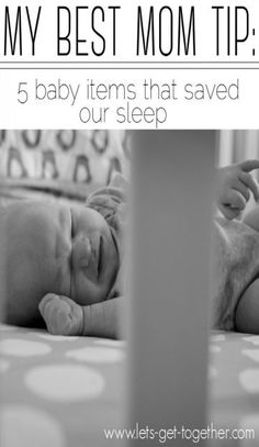 My Best Mom Tip: Sleep Stuff - 5 inexpensive items that make a big difference in sleep training. Such good suggestions! #babysleep