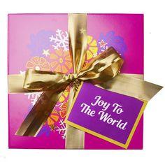 Joy To The World swatch image Holiday Gift Guide, Holiday Gifts, Unique Gifts, Best Gifts, Handmade Gifts, Lush Fresh, Handmade Cosmetics, Lush Products, Joy To The World