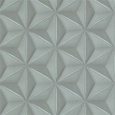 New revolutionaizing wallpapers add great tone-on-tone depth to any interior space. You would hae never dreamed to get this dynamic triangular tiling effect with a real material. #fauxisbetter #wallpaper #geometric #triangles