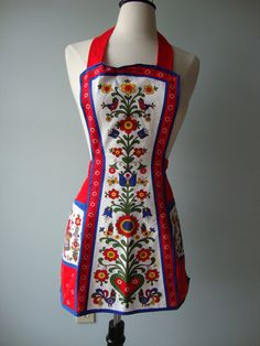 vintage apron // German Inspired // folk art by RockThatFrock