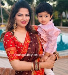 Vishnu Manchu and Viranica celebrated Diwali with family and close friends. vishnu manchu family diwali photos, prabhas at vishnu diwali party Kids Blouse Designs, Simple Blouse Designs, Stylish Blouse Design, Fancy Blouse Designs, Blouse Neck Designs, Half Saree Designs, Lehenga Designs, Cut Work Blouse, Wedding Saree Blouse Designs