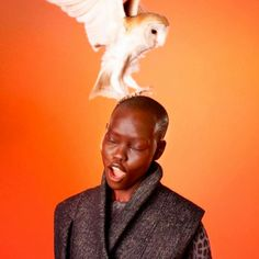 Edun Fall 2012 Ad Campaign Grace Bol photographed by Ryan McGinley Birds And The Bees, Birds Of Prey, Blackbird Singing, Bird People, American Photo, Black Models, Fashion Photography, Pet Photography, Fashion Tape