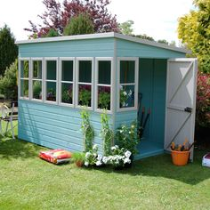 Shire 10X6 Pent Roof Shiplap Timber Shed - Assembly Required | Departments | DIY at B&Q
