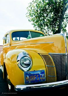 canary yellow! Love the color of this car....  Loving this car and Grill  @Harry Dent Robin White @Chatterworks