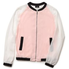Jackets are a-okay in summer if they're pink and sheer like this one.