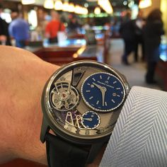 """womw: """"@kenjonyc invited latest additions to their collection. Including this lovely @mauricelacroix masterpiece gravity. The first one in the US  by horologyandtechnology from Instagram..."""