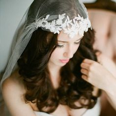 36 Stunning Wedding Veils That Will Leave You Speechless  - Cosmopolitan.com - Vintage Jewels: https://www.etsy.com/shop/ButterflyEffectInc