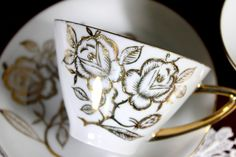2 Hand Painted Japanese Vintage Teacups, Tea Cup and Saucer, Gorgeous – The Vintage Teacup
