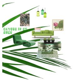 """""""Nature is My Home"""" by amandathereject ❤ liked on Polyvore featuring interior, interiors, interior design, home, home decor, interior decorating, Madeline Weinrib and Pottery Barn"""