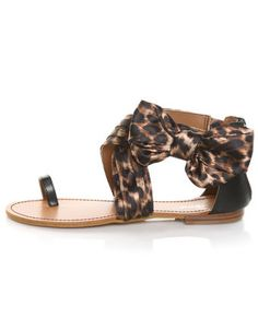 Leopard side bow sandals. So cute.