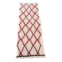 Image of Vintage Moroccan Beni Ourain Pink Runner