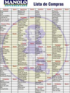 Lista De Compras Manolo Supermercado