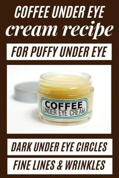 Best beauty hack for puffy eyes remedy - DIY Coffee Eye Cream. How to make DIY coffee eye cream as a puffy eyes remedy for natural beauty. Make this DIY coffee. Anti Aging Eye Cream, Anti Aging Skin Care, Natural Eye Cream, Natural Eyes, Creme Anti Rides, Avon Products, Face Products, Under Eye Puffiness, Under Eye Wrinkles