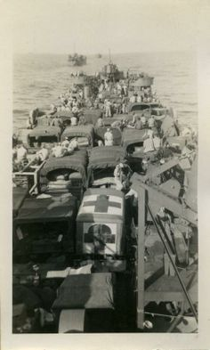 On the way to Omaha Beach, June 6th - Dropping off Field Hospital