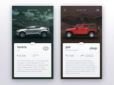 Car selection stage iOS app by Rustem Sirazetdinov Mobile Application Design, Mobile Ui Design, Car App, Card Ui, Ios App Design, Mobile App Ui, Ui Web, Stage, Apps