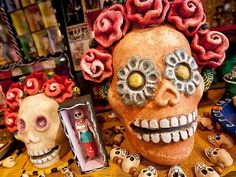 day of dead 3-D skull - Google Search