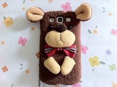 New Chic Cute Brown Plush Wool Teddy Bear With Bow by Mobimoda, $29.99