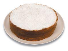Expresso dos Sabores | Torta Bem Casado de Doce de Leite - Finas camadas de pão de ló especial, recheadas com doce de leite e crocante, decorada com açúcar de confeiteiro.