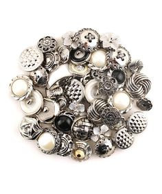 Another great find on #zulily! Vintage Silver Button Set by Buttons Galore & More #zulilyfinds