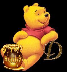 Alfabeto de Winnie the Pooh con tarro de miel. | Oh my Alfabetos!