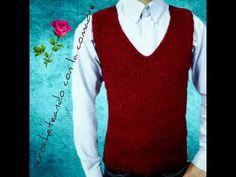 #DIADELPARE tutorial chaleco básico para caballero cuello v 1a parte facil y rapido - YouTube Crochet Men, Crochet Baby Sweaters, Macrame, Youtube, V Neck, Tops, Women, Fashion, Knitting Sweaters