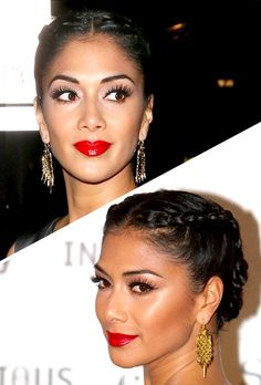 5 Updos in 3 Steps or Less, easy updo, french braid, braided updo, Nicole Scherzinger