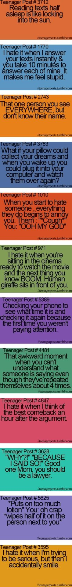 I can relate to these!