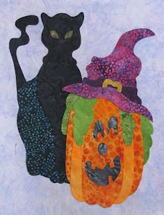 Peck's Pieces is offering a free Block of the Month series called Spooky Hallows. This is block #7 and I can't wait to collect the rest! The blocks all feature a black cat.